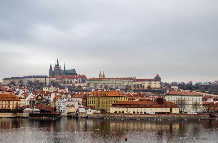 View of Prague Castle from bridge