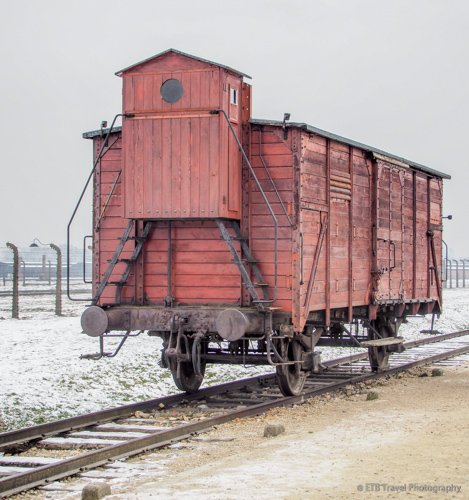 train car at Auschwitz