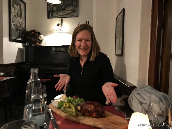 Pork Knuckle at Nostalgie Restaurant in Prague