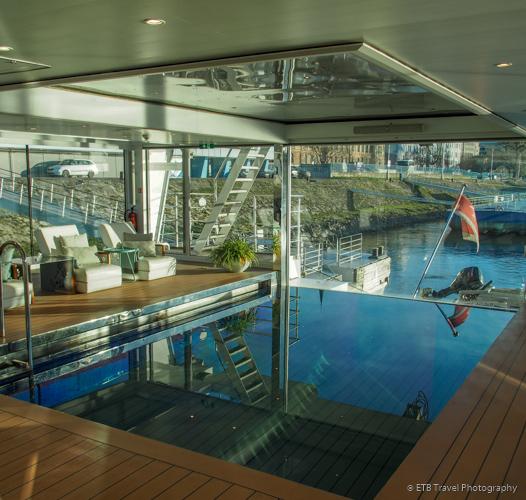 pool on Danube River Cruise