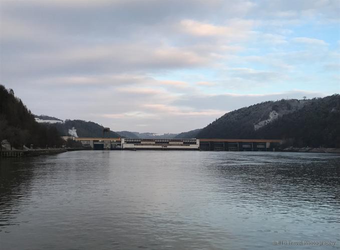 approaching lock on Danube River Cruise
