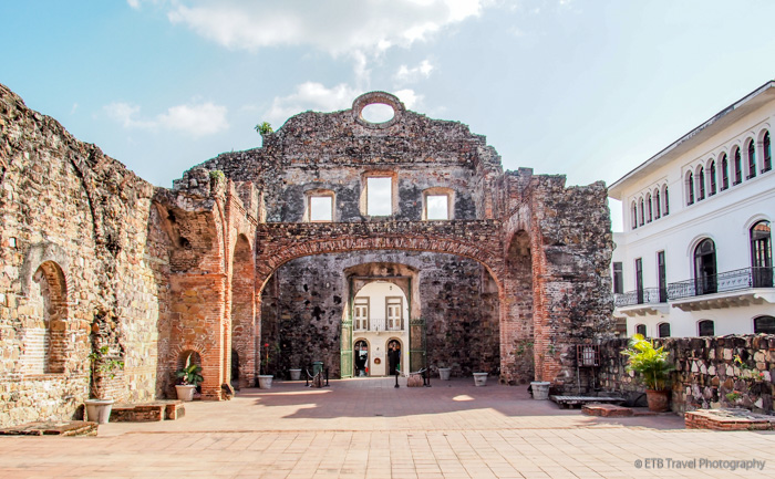ruins of church of st dominic in Panama City