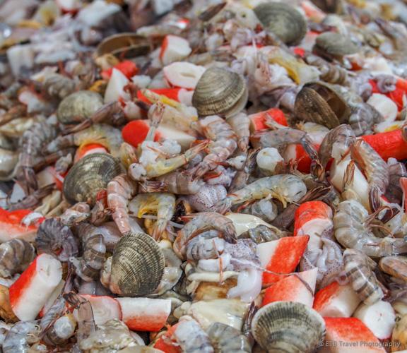 Seafood medley at the fish market in Panama City