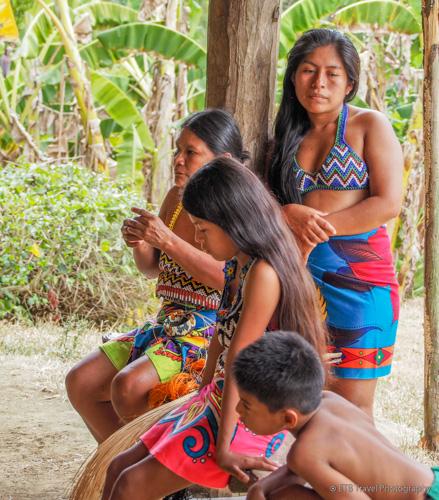 indians at village near panama city