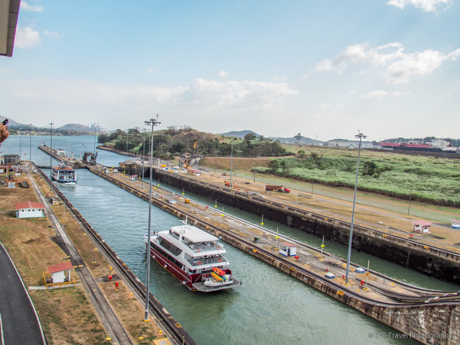 Second Chamber of Miraflores Locks on Panama Canal