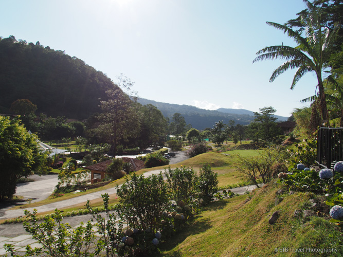 view from my cabin at hotel escondido in boquete