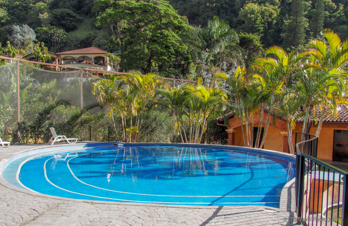 pool at hotel escondido in Boquete