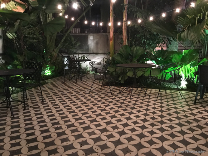 garden at Las Clementinas in Panama City