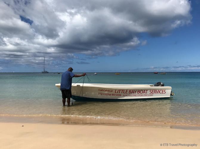 Calvin at Crocus Bay in Anguilla