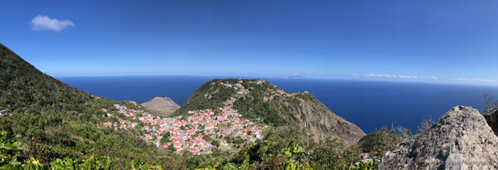 View of Windwardside in Saba