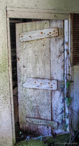 door in abandoned house