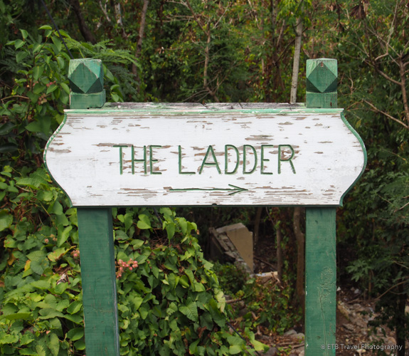 The ladder trail sign in Saba