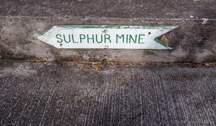 Sulphur Mine Trailhead sign