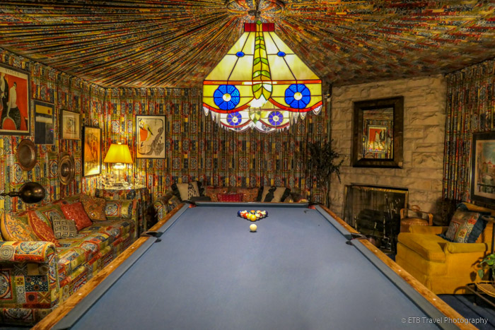 billiard room at Graceland Mansion