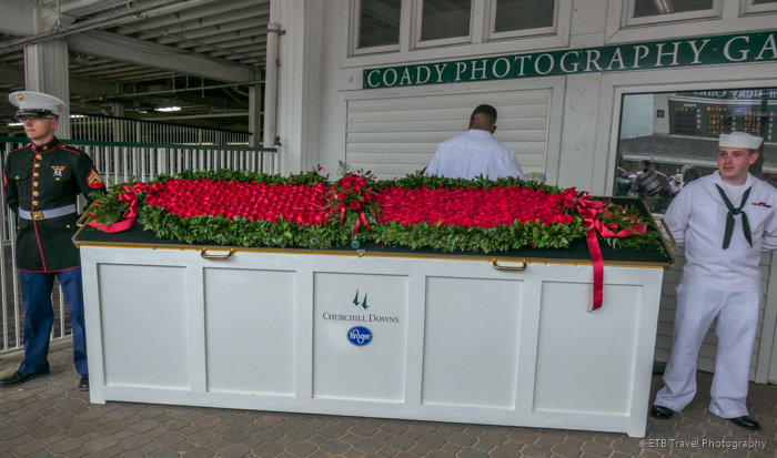 the roses at The 145th Kentucky Derby
