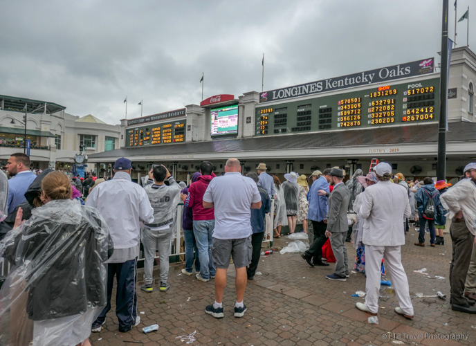 the paddock at The 145th Kentucky Derby