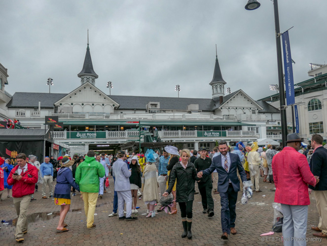 the twin spires at The 145th Kentucky Derby
