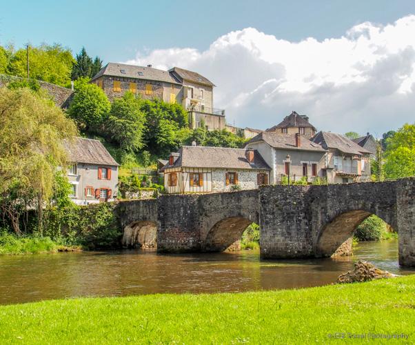 Bridge in Vigeois correze france