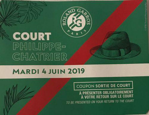 Exit ticket for Roland Garros