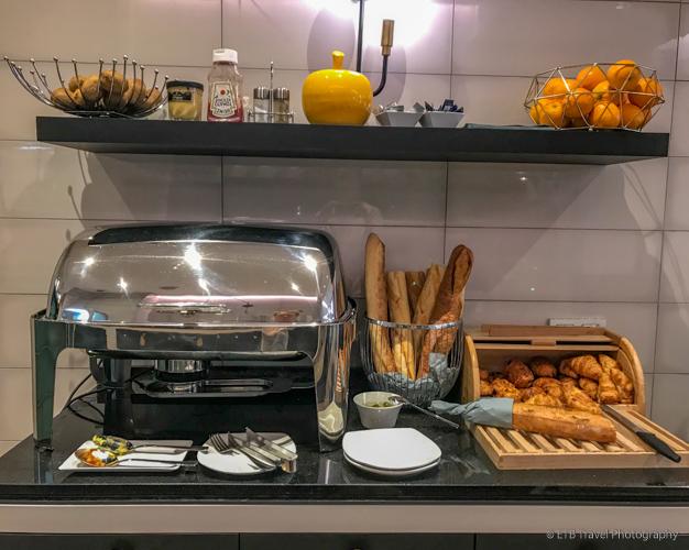 buffet at hotel haussman saint augustin