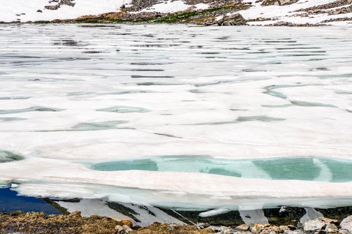 ice with aqua pools