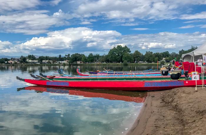 dragon boats at Colorado Dragon Boat Festival