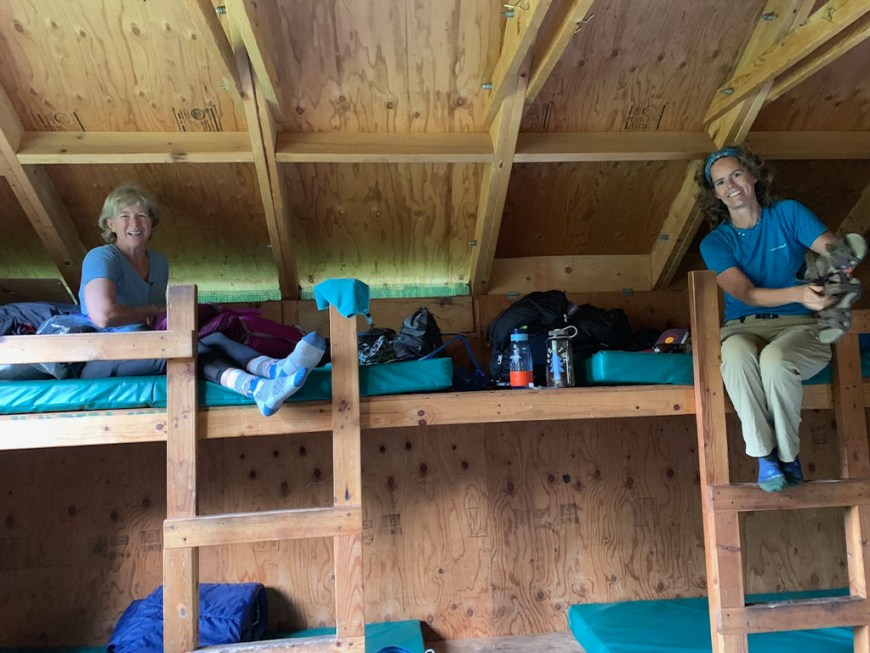 Judy and Tanya in North Pole Hut