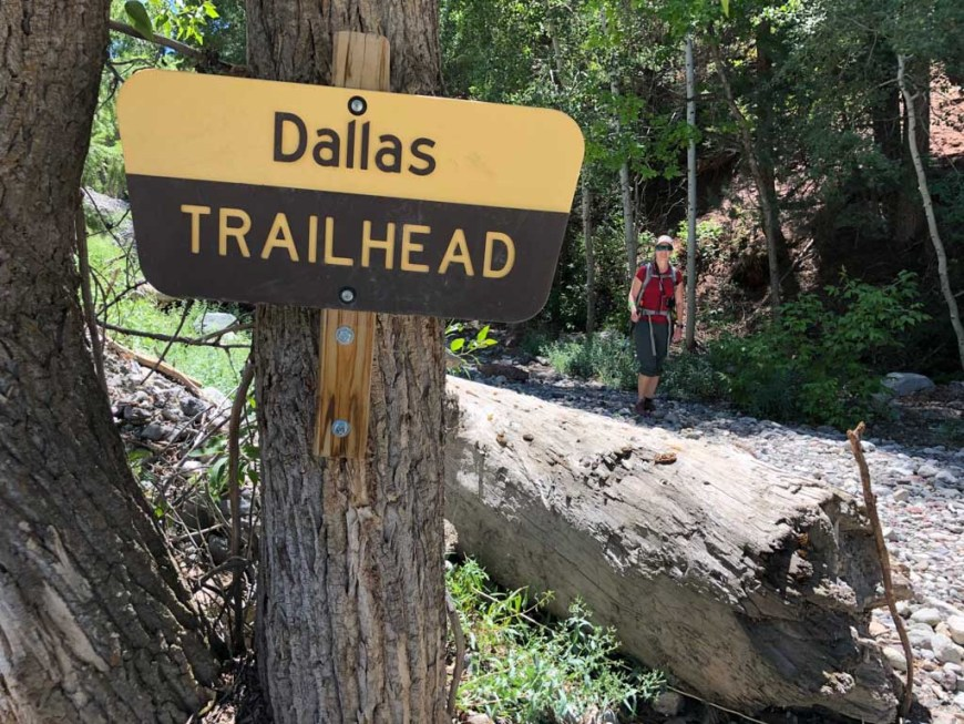 Dallas Trailhead at the end of the Sneffels Traverse