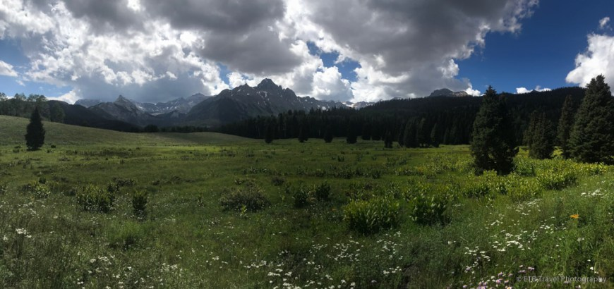View of Cocan Flats on the Sneffels Traverse