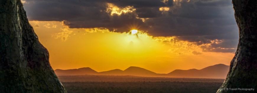 sunset at Umani Springs