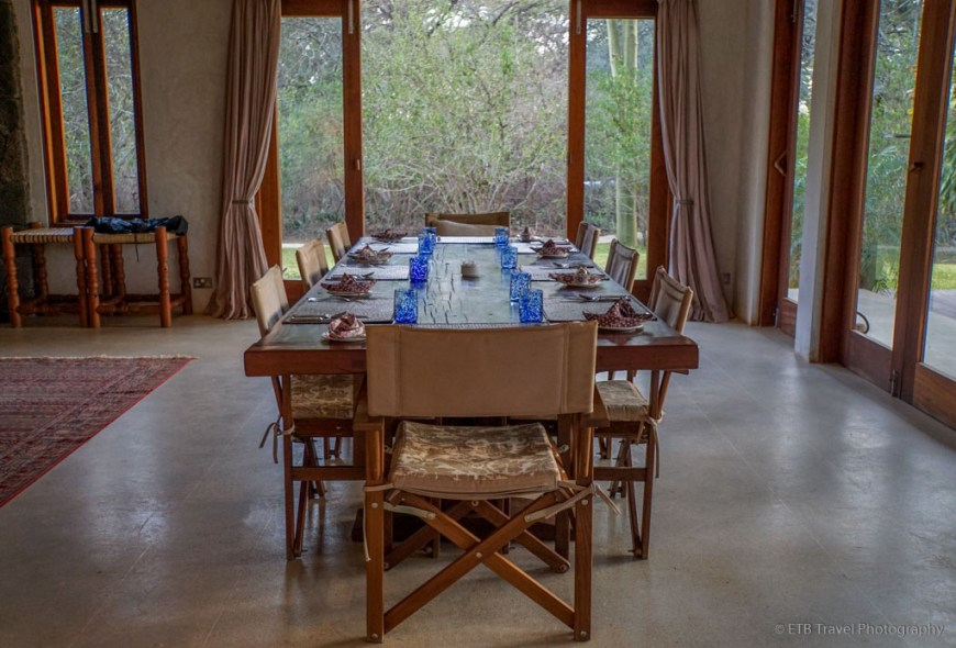 dining room at Umani Springs