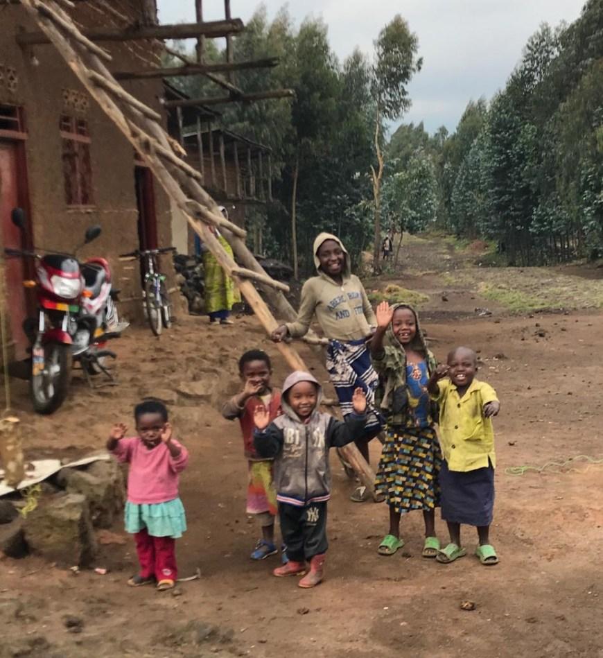 villagers in Rwanda