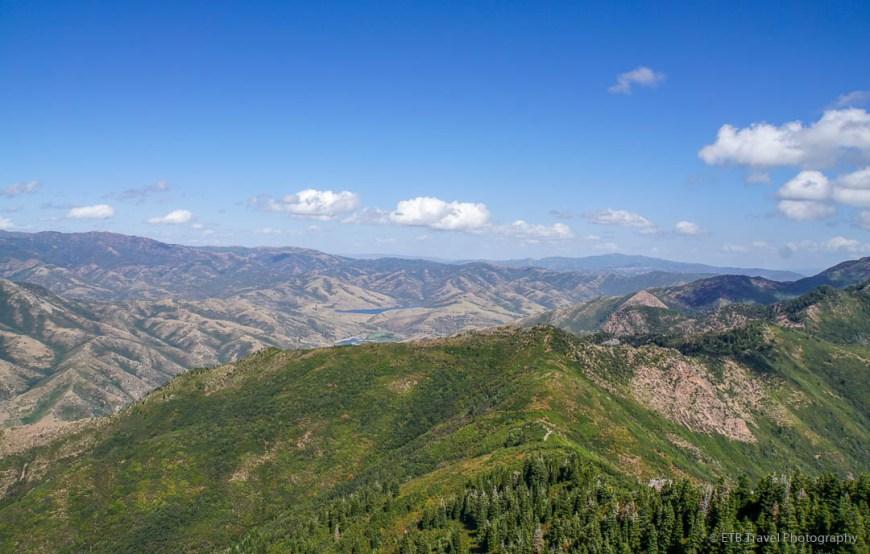 view from the summit of Grandeur Peak