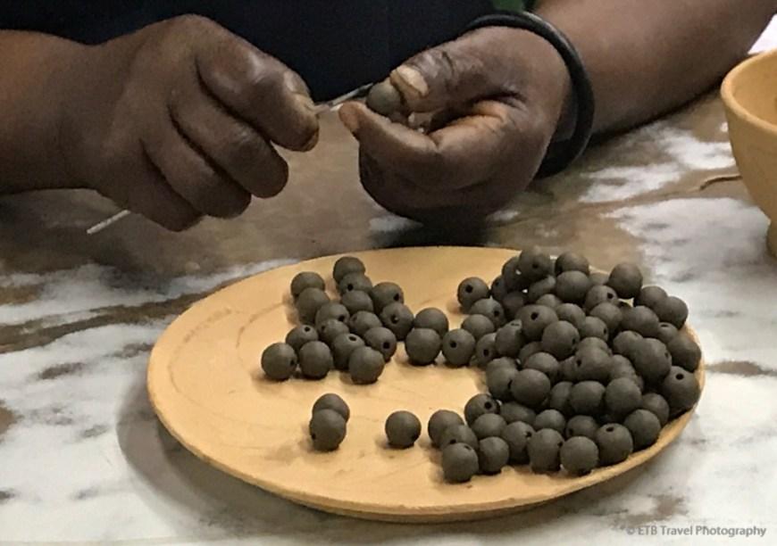 making beads at Kazuri