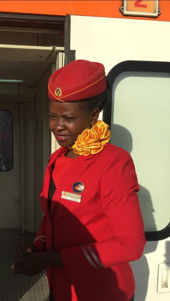 train attendant in Kenya