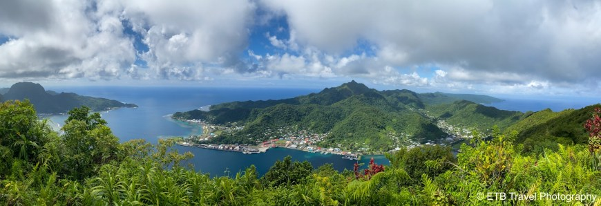 View from Mt Alava on Tutuila In American Samoa