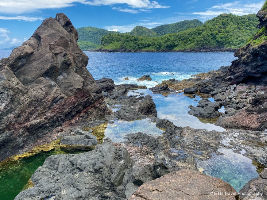 Tide pools on Lower Sauma Trail in American Samoa National Park