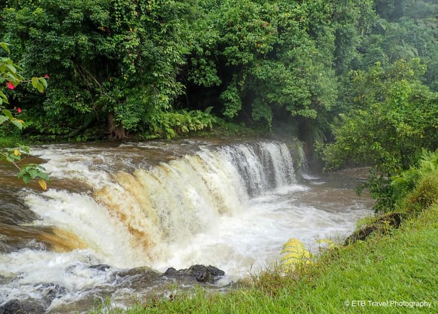 Togitogiga Falls on the way to he southeastern coast of Upolu