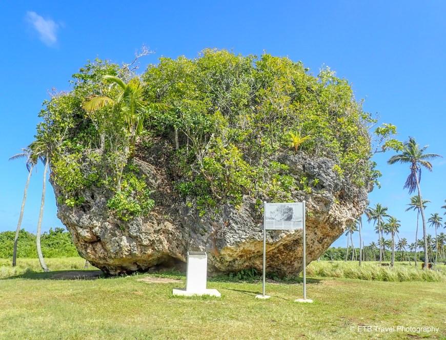 Tsunami Rock in Tonga