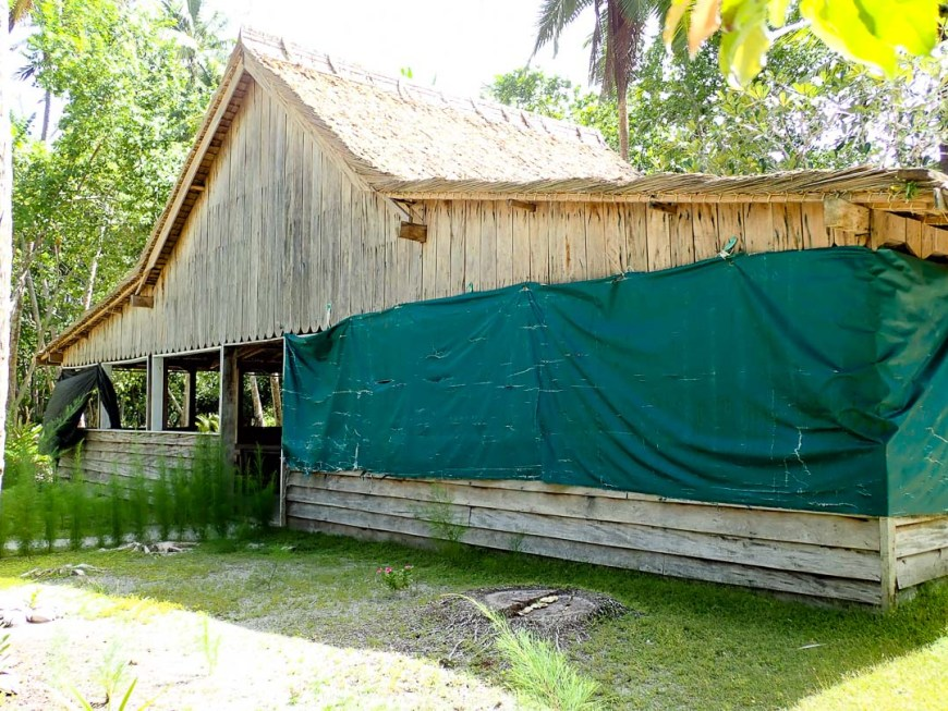 mess hall at pt base in the solomon islands