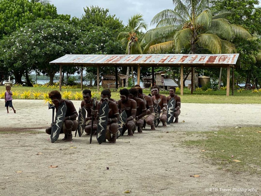 men dancing in the solomons