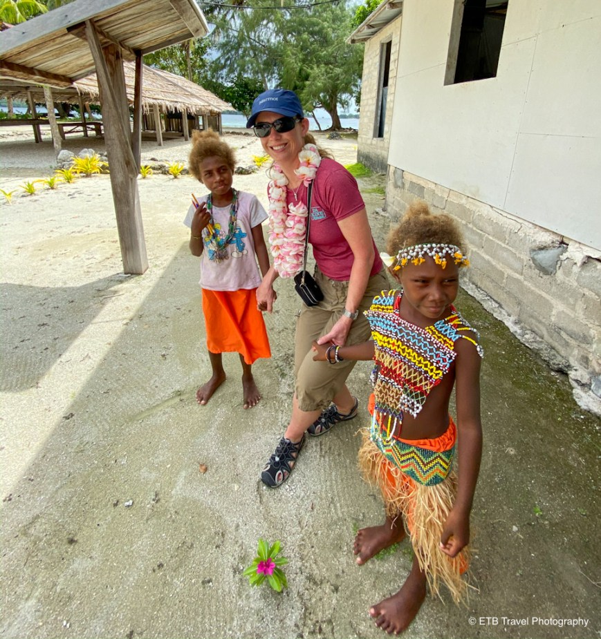 julie with kids from the solomon islands