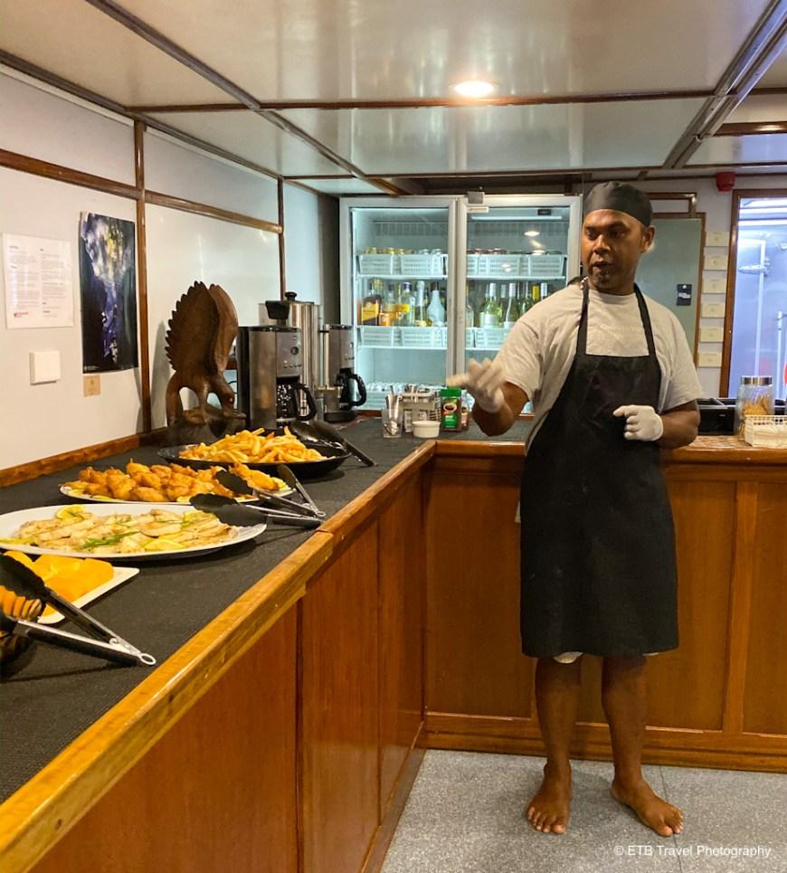 Freddie, the chef on taka