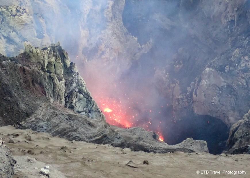 The lava in Mount yasur