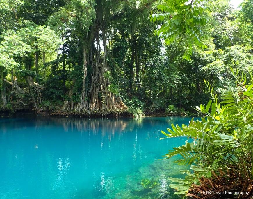 Matevulu blue hole in Santo