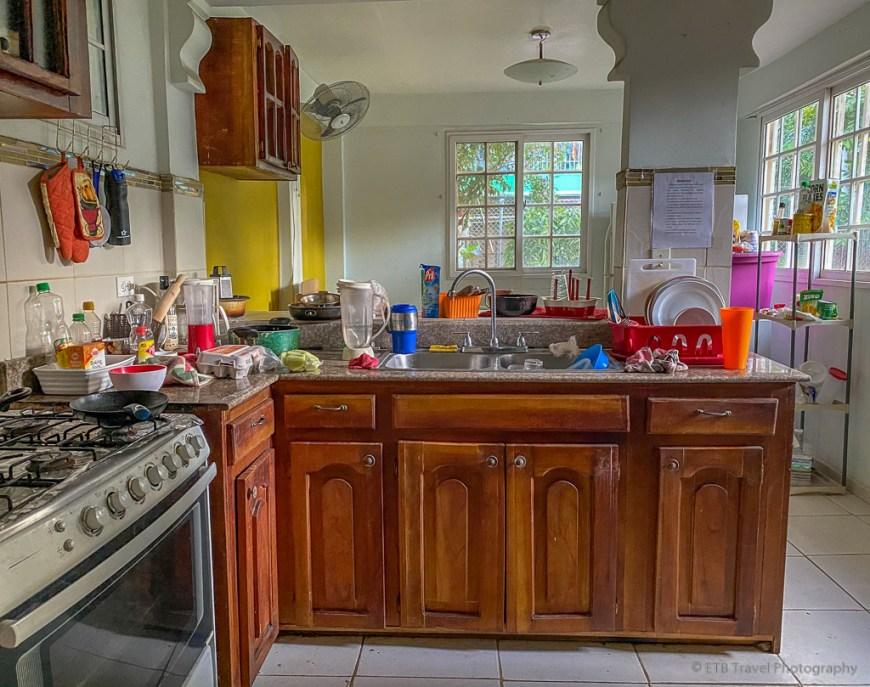 kitchen at homestay in Panama