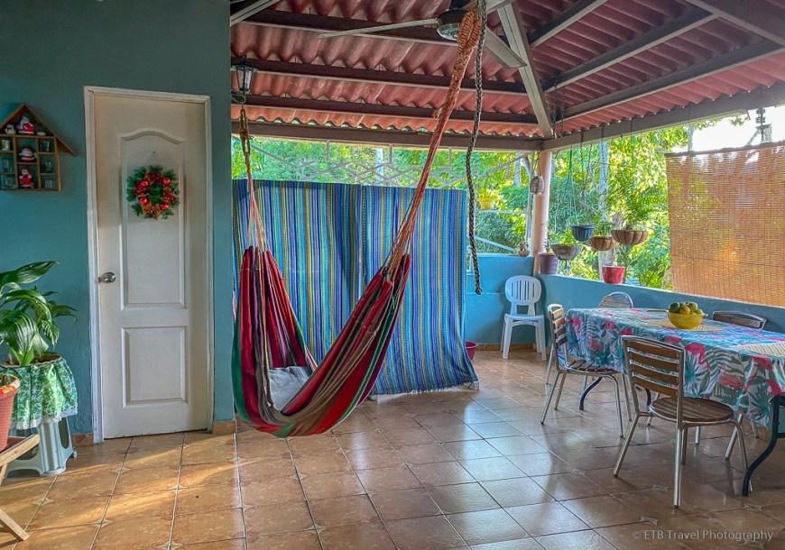 porch at my homestay in Panama
