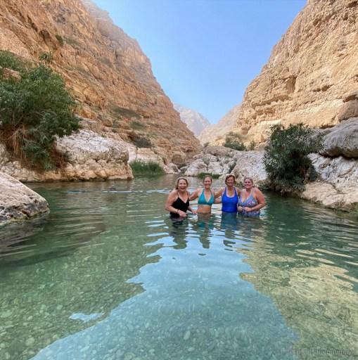 the upper pools at wadi shab