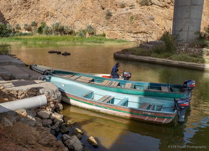 boat ride at Wadi Shab