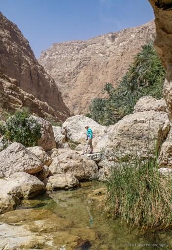 the lower pools at Wadi Shab